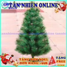 Cây thông Noel mini cao 90cm tặng kèm dây kim tuyến ngôi sao và đèn nháy sao băng trang trí siêu đẹp
