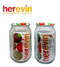 HEREVIN – Combo 2 hũ thủy tinh nắp thiếc 1L – 332377