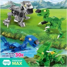 [ Xả kho 7 ngày ]Đồ chơi trẻ em,Bộ Lego khủng long biến hình người máy và chiến cơ- HIEUCLOCK