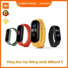 Vòng tay theo dõi sức khoẻ Xiaomi Mi Band 5 (Màu đen)- Tặng dán màn hình – Đồng hồ thông minh Miband 5 – Chính Hãng Xiaomi