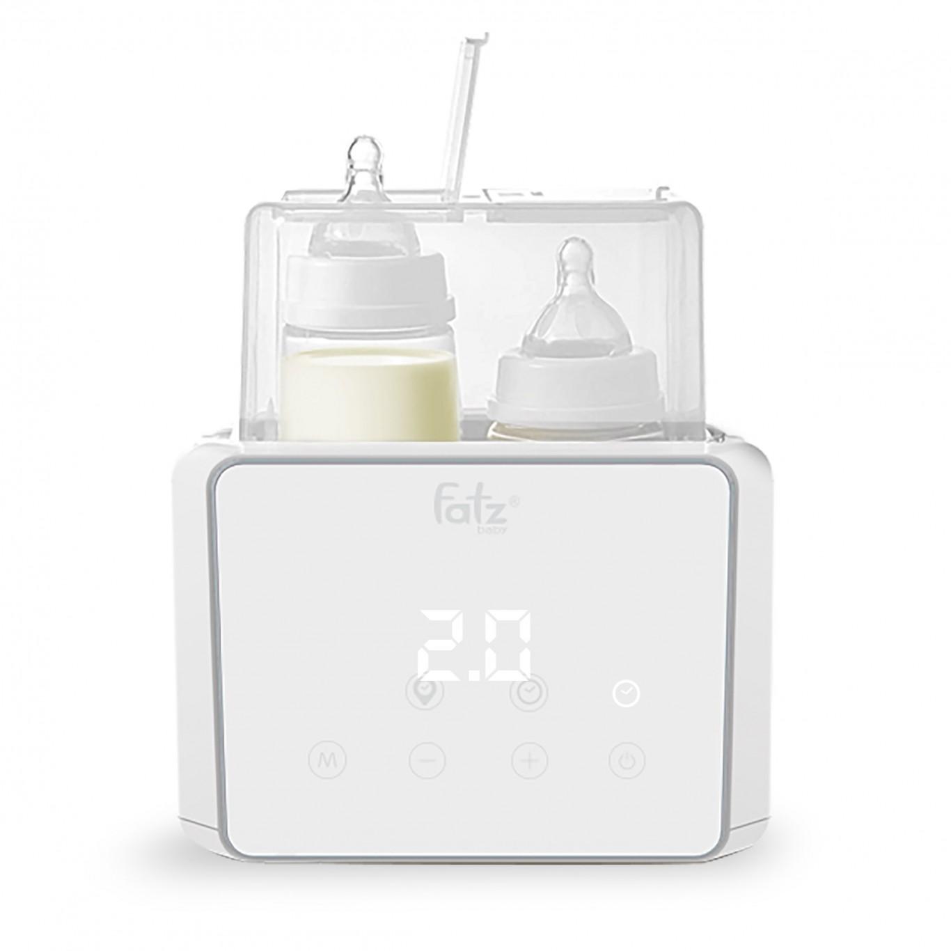 Máy hâm sữa tiệt trùng điện tử Fatz Baby Duo 3 FB3093VN, giá đỡ ngăn cách đế đun nóng, tiện...