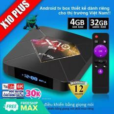 Android TV Box phiên bản 4G ram và 32G bộ nhớ trong ,bảo hành 1 đổi 1 trong 1 năm X10 plus