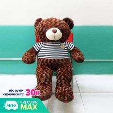 Gấu bông Teddy Cao Cấp khổ vải 1m2 Cao 1m màu nâu hàng VNXK – Tặng Thiệp Mừng 3D – Quà Tăng Yêu Thương – TD1M