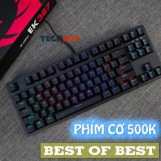 Bàn phím cơ E-Dra EK387 I BH 24 Tháng Toàn QuốcI Red/Blue/Brown Switch I Gaming Tenkeyless KeyBoard RGB E-Dra EK387