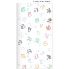 Sổ tay planner bìa cứng in hoạ tiết hình Đồ vật dễ thương – thu chi, lịch hẹn, to-do list, chấm bi, kẻ dòng