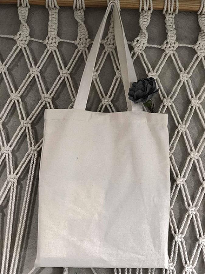 Túi vải bố trơn, không khóa kéo