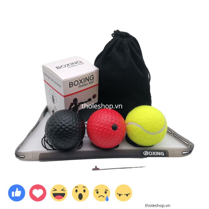 [SALE] Bóng luyện tập thể thao – Bóng tập đấm luyện phản xạ cho mọi lứa tuổi 85g, bóng có gắn dây cùng với băng đeo đầu