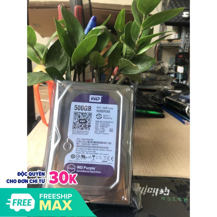 Ổ cứng HDD 500G / 1000G(1TB) , 2000G (2TB) , 3000G (3TB) Western Purple ( Tím ) , Chuyên dùng...
