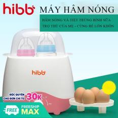 Máy hâm sữa và tiệt trùng bình sữa HIBB đa năng:Tiệt trùng bình sữa, hâm sữa, hâm thức ăn, luộc trứng sử dụng cùng lúc 2 bình – Thiết kế nhỏ gọn, an toàn và tiện dụng cho mẹ và bé. BẢO HÀNH 2 NĂM ĐỔI MỚI 1-1 TRONG 7 NGÀY NẾU
