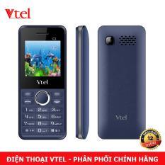 Điện thoại di động Vtel C1 – 2 SIM (Màu Xanh Đen) – Bảo Hành 12 Tháng