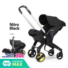 [Có Video] Ghế ngồi ô tô cho bé kết hợp xe đẩy và nôi xách chịu tải đến 13kg, ghế ngồi ô tô 3in1 Mstar mẫu mới 2020 (màu đen)