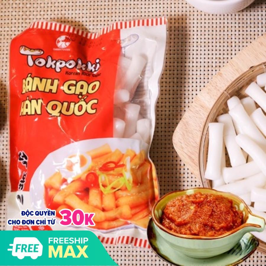 [MGG 10k tặng kèm nước sốt] Bánh gạo Topokki vị cay 500g (Gói)Yopokki - Bánh gạo hàn quốc - hkfoods