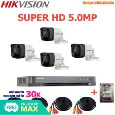 Bộ Camera Quan Sát Cao Cấp Hikvision 4 Kênh 5.0MP Super HD – Trọn Bộ Camera Hikvision 5.0MP