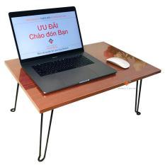 Bàn laptop xếp gọn (Cánh Gián Vintange) phong cách – bàn gỗ MDF1838