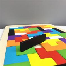 Bộ đồ chơi gỗ xếp hình tư duy Tetris phát triển tư duy logic – đồ chơi montessori kích thích trí não – Smart Baby – dochoigo032