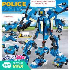 Lego robot biến hình, Đồ chơi lắp ráp, Lego Giá Rẻ, Lego cảnh sát biến hình chất lượng cao- HIEUCLOCK