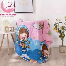 Chăn mền trẻ em cotton đũi mềm thoáng mát 1mx1m4 / Chăn hè mỏng cho bé đi học, ngủ máy lạnh