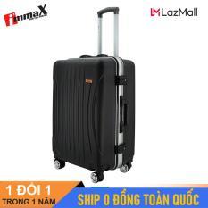 [ MIỄN PHÍ SHIP] Vali nắp gập immaX A15 Size 24inch / Vali viền nhôm nắp gập, vali lớn ký gửi hành lý