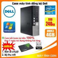 Case máy tính đồng bộ DEL CPU Dual Core E5xxx / Core i5-3330 / Ram 4GB / HDD 250GB-500GB / SSD 120GB-240GB [QUÀ TẶNG: Bộ thu wifi, bàn di chuột]