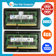 Ram Laptop DDR3 4GB bus 1333 ( nhiều hãng) Samsung / Hynix/kingston/micron… PC3 10600s – LTR3 4GB