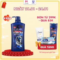 Dầu tắm gội CLEAR Men 3 trong 1 – ACTIVE CLEAN SẠCH SÂU – 630g