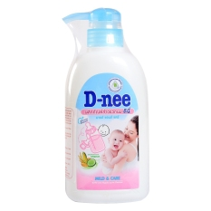 Nước rửa bình sữa và rau củ quả Dnee dạng chai 500ml – Thái Lan