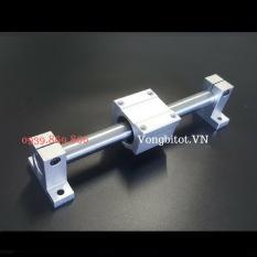 (Bộ Thanh Trượt Tròn 8-300mm) Gồm 2 thanh trượt tròn SC8 dài 300mm + 2 Hộp SCS8 + 4 Kẹp SK8