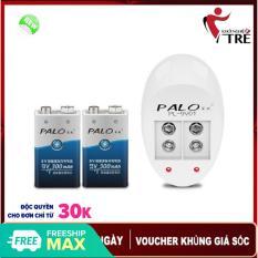 Bộ 2 Pin Vuông 9v Palo 300mAh + Tặng Sạc Pin Vuông 9v – Pin Vuông