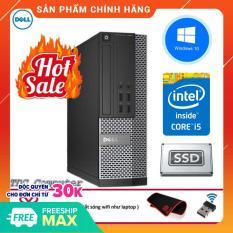 Case máy tính để bàn Dell Optiplex 3020 SFF cpu Intel Core i5 4570, ram 8GB, Ổ cứng SSD 240GB. Hàng Nhập Khẩu.Tặng Bàn Di Chuột và USB Thu Wifi.Bảo hành 2 năm [ máy tính đồng bộ dell ]