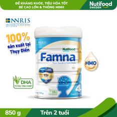 Sữa Bột FAMNA STEP 4 Lon 850g_Công thức FDI độc quyền, bổ sung HMO (2′-FL), 100% DHA từ tảo tinh khiết, tạo nền tảng Đề kháng khỏe – Tiêu hóa tốt, giúp bé cao lớn & thông minh- [TRỢ PHÍ VẬN CHUYỂN]