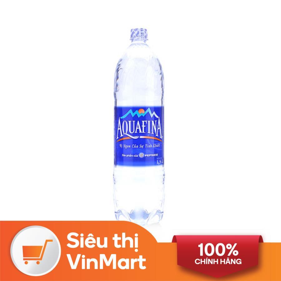 [Siêu thị VinMart] - Nước uống tinh khiết Aquafina chai 1,5 lít