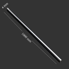 Tùy chọn – Trục thép Inox tròn đặc đường kính phi 4mm dài 300 – 1000mm dùng làm thanh trượt tuyến tính máy CNC