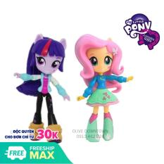 Combo 2 búp bê Pony 13cm FLUTTERSHY và TWILIGHT SPARKLE – My Little Pony Equestria Girls