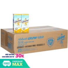 Tặng 1 BALO GẤU HƯƠU – Thùng 48 hộp sữa nước Abbott Grow Gold hương vani 180ml – HSD luôn mới