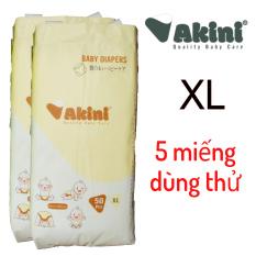 [Dùng thử] 5 miếng tã/bỉm quần Akini cho bé M5/L5/XL5/XXL5