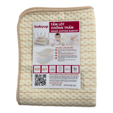 Tấm lót chống thấm cho bé cao cấp Organic Cotton Size 70×120 cm. Miếng lót chống thấm cho trẻ sơ sinh, dùng để trải giường, củi, có thể sử dụng cho phụ nữ và người già. 4 lớp, mềm mại, thoáng khí, siêu thấm hút, có thể giặt.