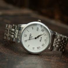 [HOT] Đồng hồ nam SKMEI dây thép đúc đặc cao cấp ( Kèm PIN dự phòng )