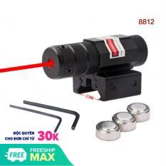 Đèn Laze EN 8812 Mini Hồng Ngoại Tia ĐỎ – Bút Laze Kẹp Ray 11 hoặc Kẹp Ray 20, Có Chỉnh Tâm, Kèm Đầy Đủ Phụ Kiện – máy laser tia đỏ lz (màu Đen)
