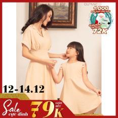 ( SALE 12.12) Đầm cho bé gái tay con mát mẻ dễ thương xinh xắn GUMAC DKA425 màu Hồng ( dành cho bé gái từ 2 tuổi đến 9 tuổi)