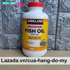 Viên Uống Dầu Cá Kirkland Fish Oil 1000mg 400 Viên – Mẫu bật (nắp đỏ) – Dầu cá 400 viên giúp sáng mắt, đẹp da, ngăn ngừa ung thư
