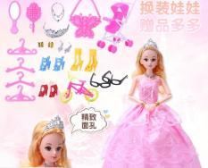 Búp bê barbie cơ thể 12 khớp hồng phấn cho bé