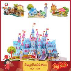 Đồ chơi trẻ em ghép mô hình 3D 22 đến 37 chi tiết ngôi nhà, biệt thự, lâu đài, công viên rèn luyện sự khéo léo, tỉ mỉ và tập trung cho bé từ 4 tuổi trở lên