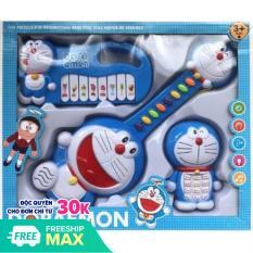 Bộ 3 món đồ chơi Doremon đàn organ, đàn ghita, diện thoại di động