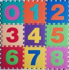 Thảm xốp lót sàn cho bé gồm 10 miếng hình số đếm từ 0-9 ghép lại