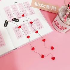 Dây cài tóc trái tim trắng-đỏ-hồng duyên dáng xinh đẹp cho phái nữ (inbox màu cho shop có đủ 3 màu)