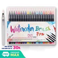 Bộ 20 bút lông màu nước Water Color Brush Pen (Tặng 1 cọ Water Brush Blend màu )