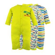Set 3 bộ body Suit dài tay Baby Gear hàng xuất dư đẹp cho bé trai