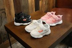 Giày thể thao da trơn cho bé, chất da êm mềm