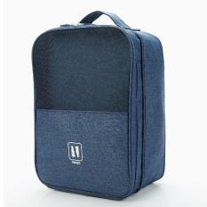 Túi đựng giày, balo đựng giày 4 ngăn chất lượng, vải dệt dày dặn chống thấm, mẫu mã xinh xắn, sang trọng, hàng nhập cao cấp có quai gài vào vali