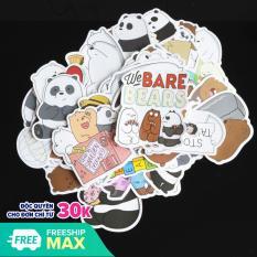 Bộ 10 20 50 sticker hình dán stickers chống nước chủ đề WE BARE BEAR mẫu mới 2020 lâu phai trang trí vali, laptop, điện thoại, xe đạp, xe máy, skateboard, đàn guitar, ukulele,…